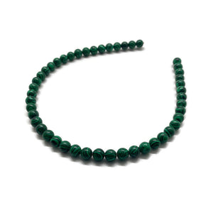 Green Beaded Strand Headband