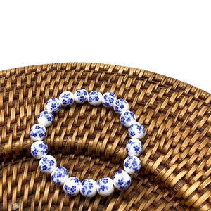 Chinoiserie Bead Stretch Bracelet