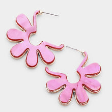 Load image into Gallery viewer, Flower Shell Earrings - Pink