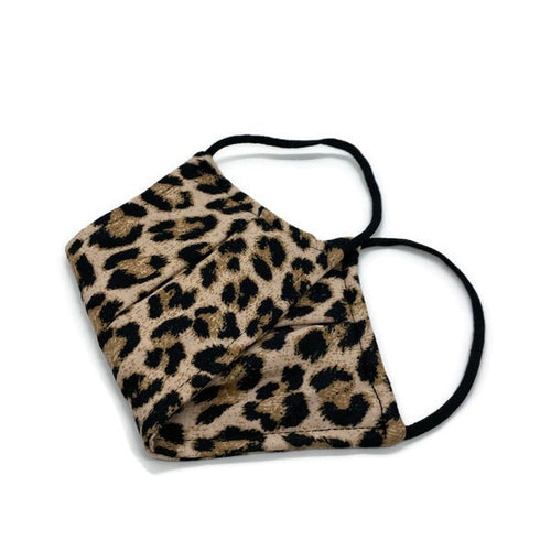 Soft Cotton Leopard Face Mask (One Size Fits All)