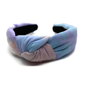 Pastel Cotton Tie Dye Topknot Headband
