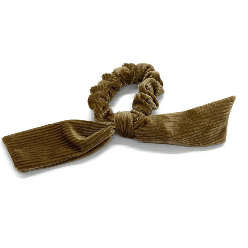 Gold Velvet Scrunchie