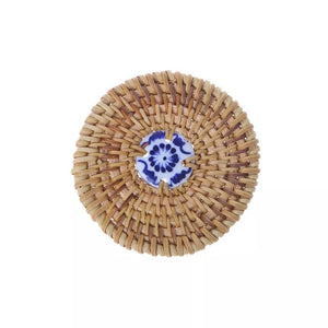 Rattan Chinoiserie Coasters (Sold Individually)