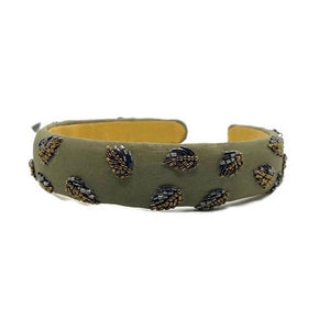 Olive Leaf Beaded Embellished Headband