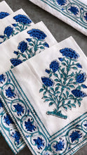 Load image into Gallery viewer, Allie Block Print Cotton Placemat & Napkin Set (Sold Individually)
