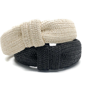 Flat Loop Rattan Topknot Headband (2 Color Options)