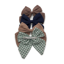 Load image into Gallery viewer, Linen Bow Barrettes (4 Color Options)