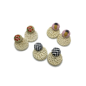 Rattan Earrings (3 Color Options)