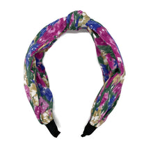 Load image into Gallery viewer, Watercolor Flowers Top Loop Headband