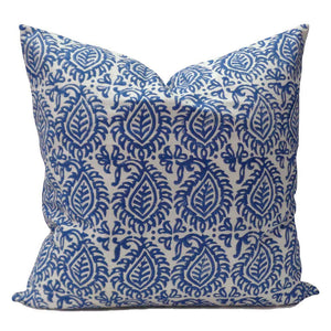 "Leaf Blue Pillow Cover 20""x 20"""