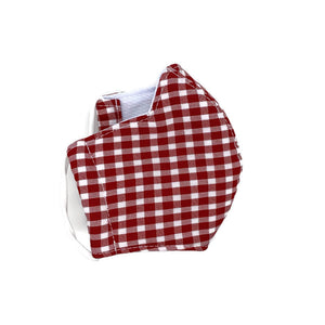 Red Gingham Face Mask (Ages 3 and under)