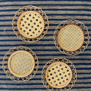 Rattan Cane Coaster Set (Set of 4)
