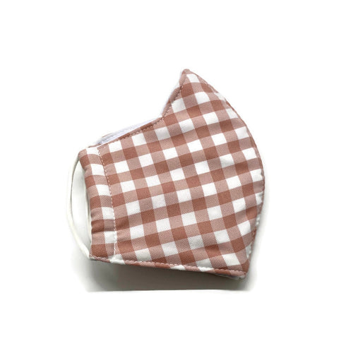 Blush Gingham Face Mask