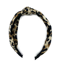 Load image into Gallery viewer, Silk Leopard Scarf Topknot Headband