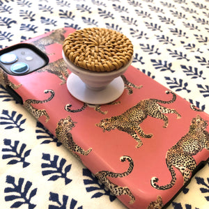 Rattan Phone Pop Socket