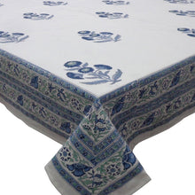 Load image into Gallery viewer, Boota Blue Tablecloth (8-10 Seater)