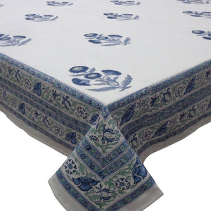 Boota Blue Tablecloth (8-10 Seater)