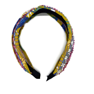 Multicolor Fringe Top Loop Headband