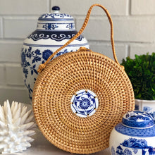 Load image into Gallery viewer, The Chinoiserie Rattan Handle Clutch
