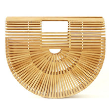 Load image into Gallery viewer, The Half Moon Bamboo Clutch