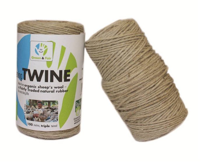 Natural Rubber / Sheep's Wool Gardening Twine 100m