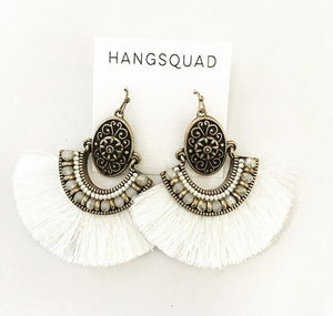 White Tribal Tassels - HANGSQUAD
