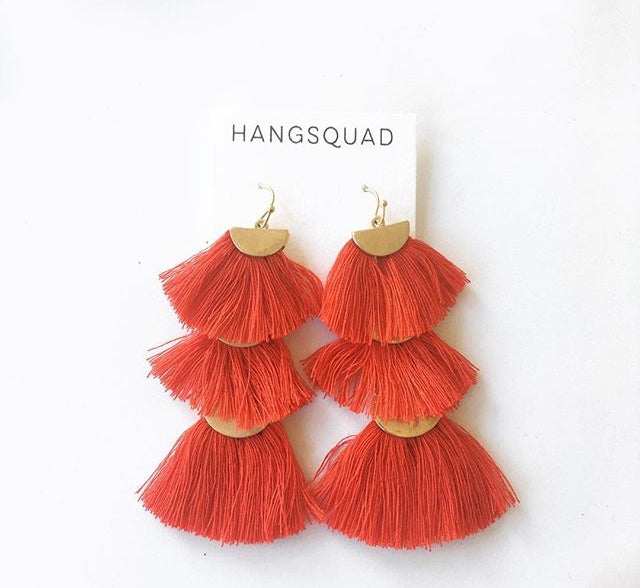 Red Tier Tassels