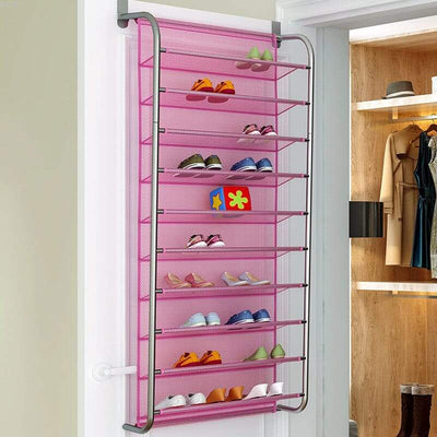 wandy range chaussures mural rose etagere porte accrocher maison