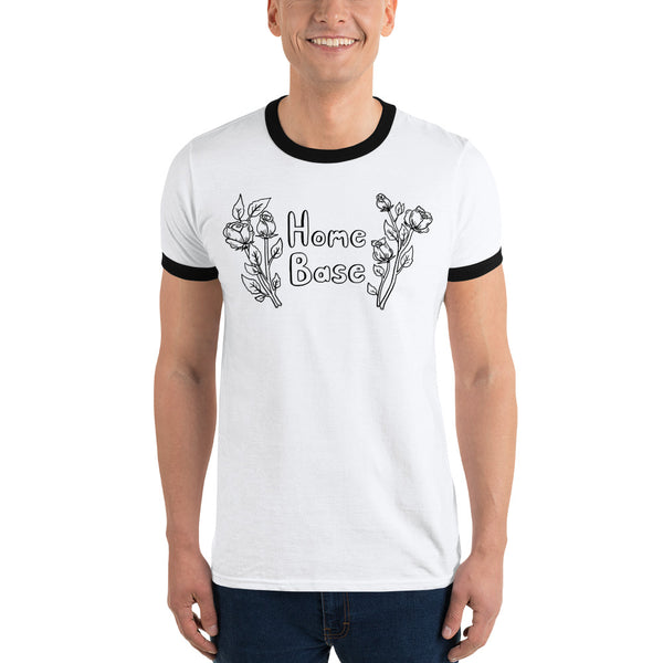 Home Base Roses Ringer T-Shirt