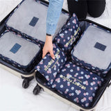 6 PC Travel Bag Organizer Set