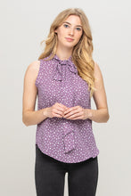 POLKA DOT TOP WITH NECK TIE