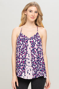 Leopard Print Sleeveless Top