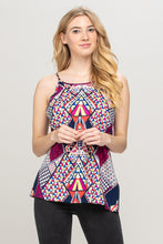 Multi Color Abstract Sleeveless Top