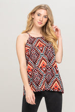 ABSTRACT COLORFUL SLEEVELESS TOP