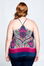 SLEEVELESS PRINT TANK TOP - PLUS SIZE