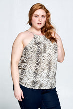 Sleeveless Snake Print Tank Top