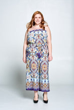 SLEEVELESS PRINT JUMPSUIT - PLUS SIZE
