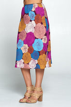 Multi Color Floral Midi Skirt