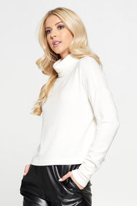 Extra Soft Brushed Knit Cowl Neck Long Sleeve Top