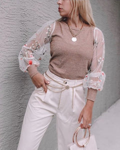 @the.style.aisle_ - Sparkling Long Sleeve Top
