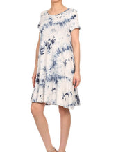 Tie Dye Print Swing Dress