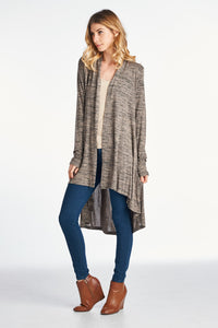 HI-LO LONG CARDIGAN