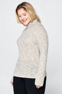 LONG SLEEVE TURTLENECK TOP - PLUS SIZE