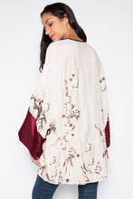 EMBROIDERED KIMONO WITH SILK SLEEVE