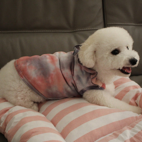 Cotton French Terry Tie Dye Dog Top