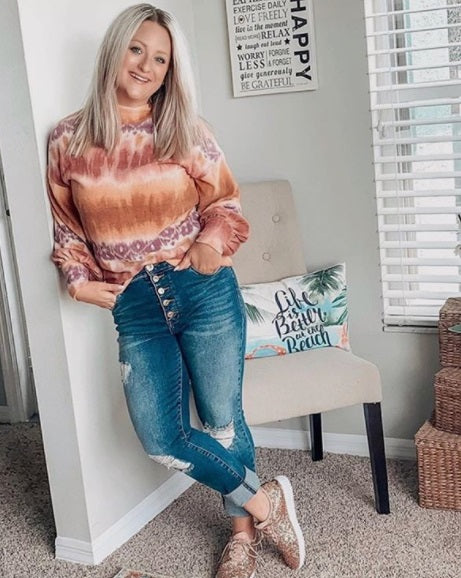 @stylemymind_jenn - Extra Soft Tie Dye Turtleneck Top