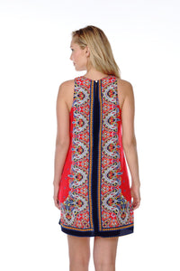 BOHO SLEEVELESS PRINT DRESS