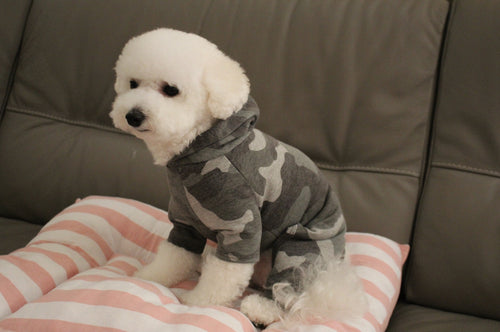 Pet Camouflage Hooded Bodysuit