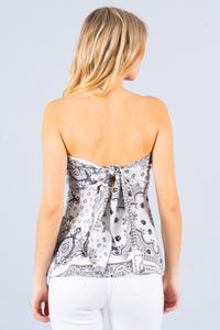 Preorder - Bandana Print Tube Top with Back Tie
