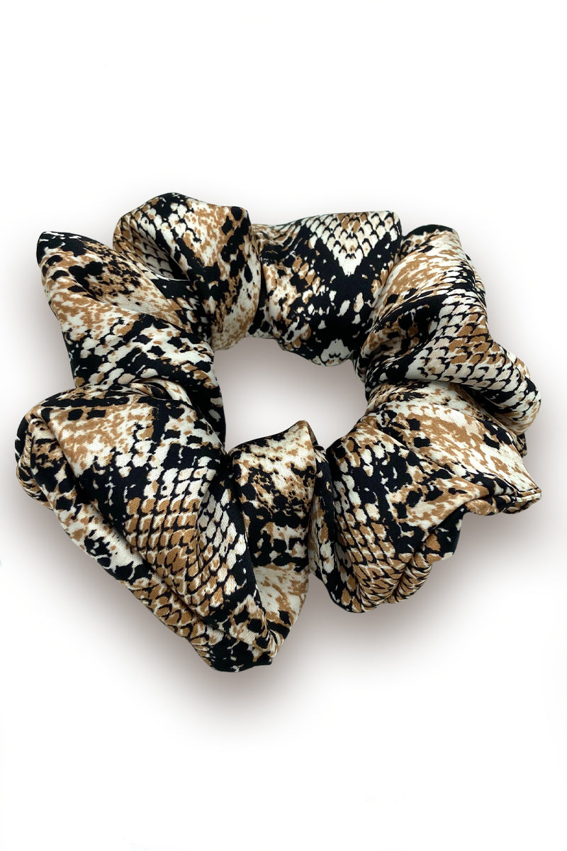 Satin Animal Print Scrunchie